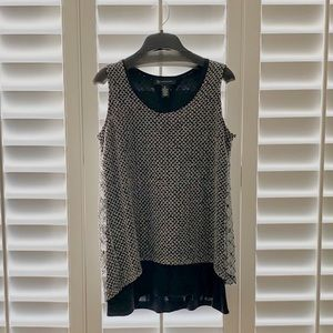 INC sequined black top